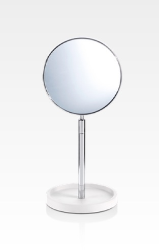 decor walther miroir grossissant stone blanc chrome