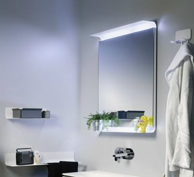 Les miroirs pour la salle de bains for Miroir magique obsidienne noire