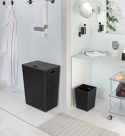 Paniers linge pour salle de bains - Tabouret coffre salle de bain ...