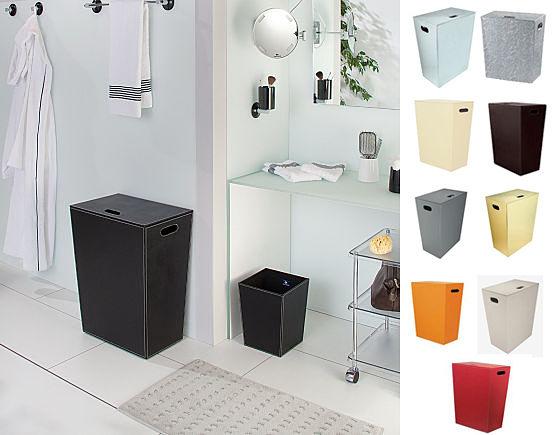 Paniers linge pour salle de bains - Panier mural salle de bain ...