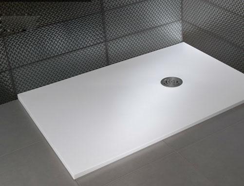receveur de douche blanc mat