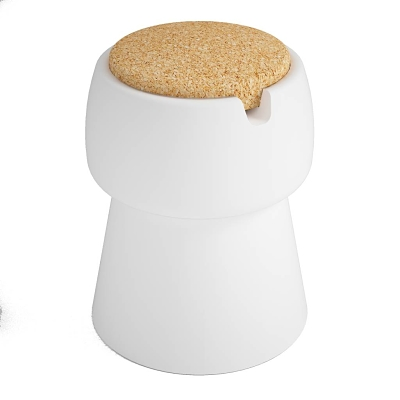 champ champ stool cooler white bouchon liege blanc tabouret opt