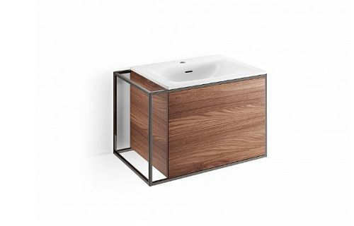 meuble suspendu lavabo porte push pull vasque marbre mineral 2 opt