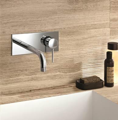 Robinets salle de bains for Robinet salle de bain encastrable