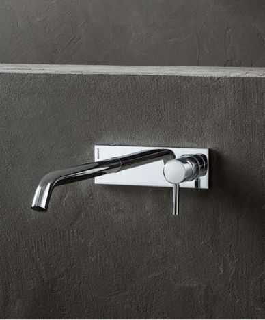 mitigeur lavabo mural chrome opt
