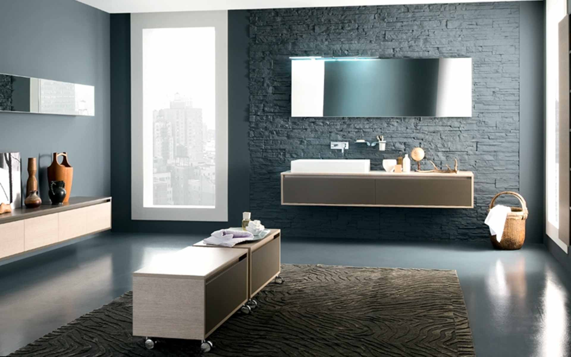 salle de bain bleue et grise. Black Bedroom Furniture Sets. Home Design Ideas