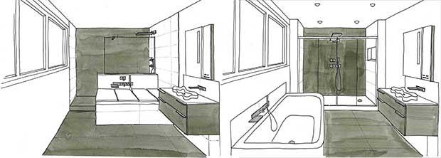 Salle de bains lille les projets for Croquis de salle de bain