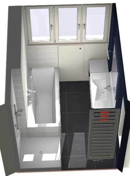 Salle de bains lille les projets for Plan de salle de bain douche et baignoire